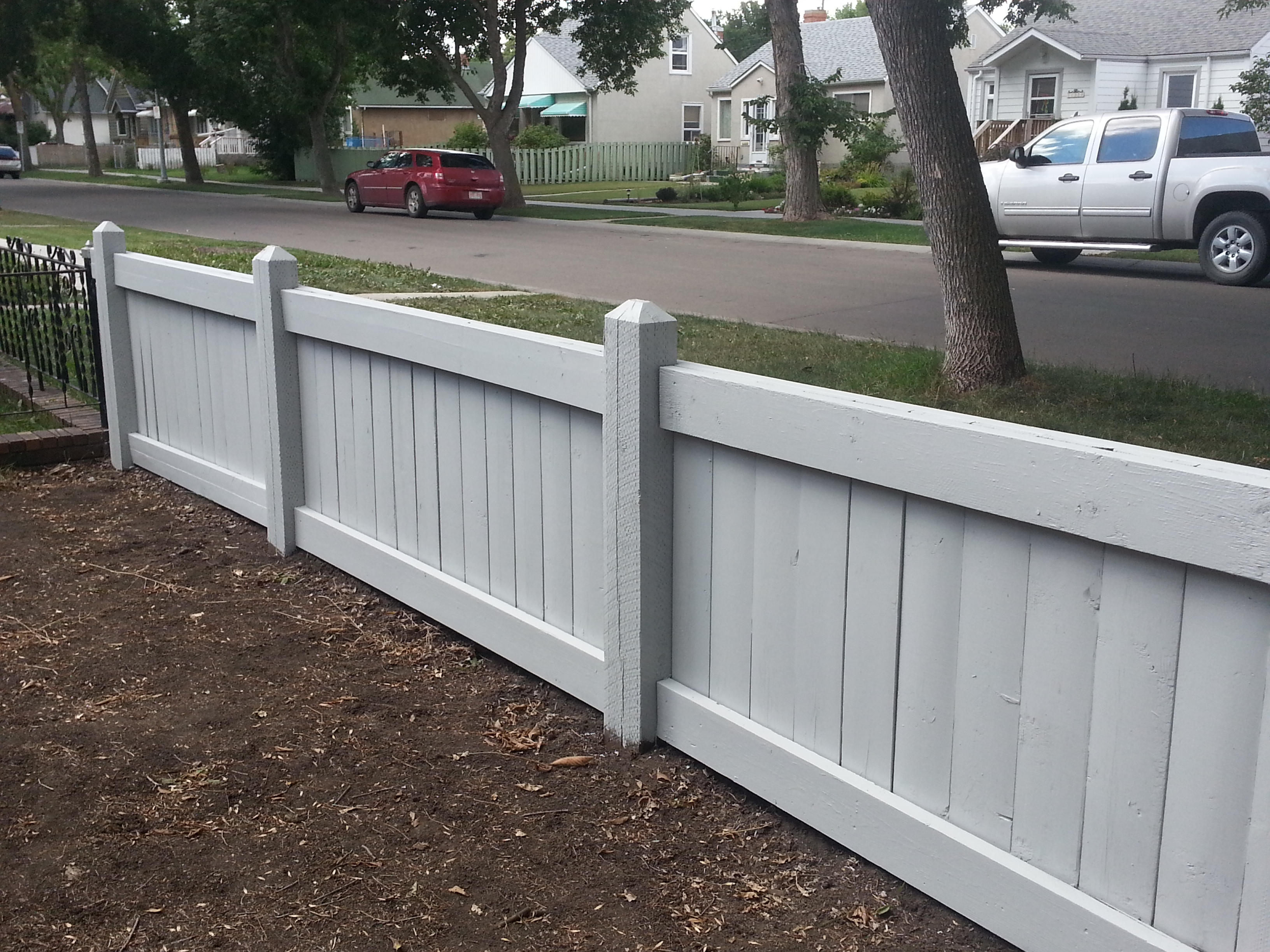 Pretty newly-stained fence